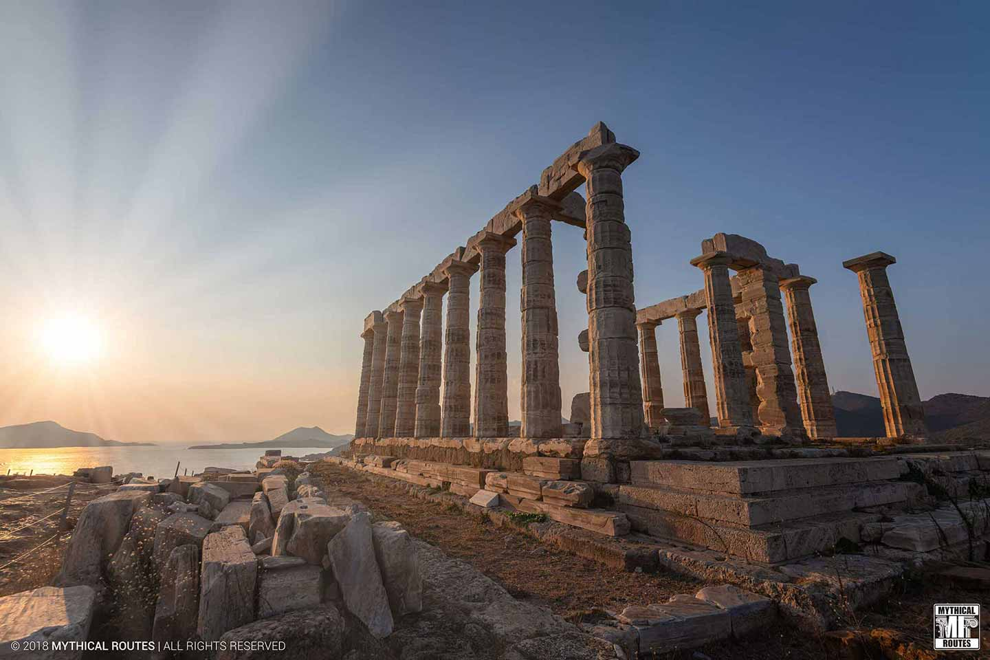 Mythical Routes Sounio Temple